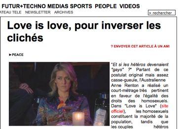 Love is love sur Bakchich.info